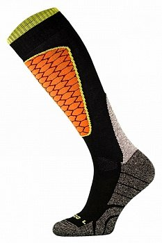 Носки горнолыжные Comodo SKI SOCKS PERFORMANCE BLACK-ORANGE - SKI1-02